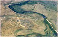 Аркаим - Вид с высоты